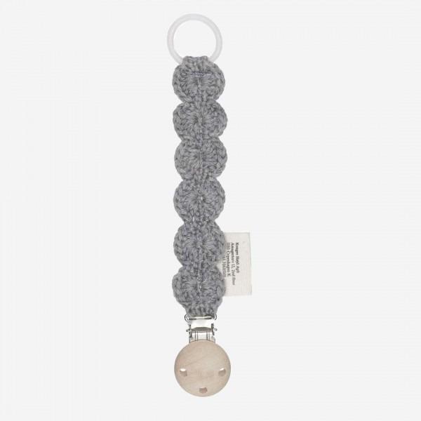 Strick-Schnullerband grau melange