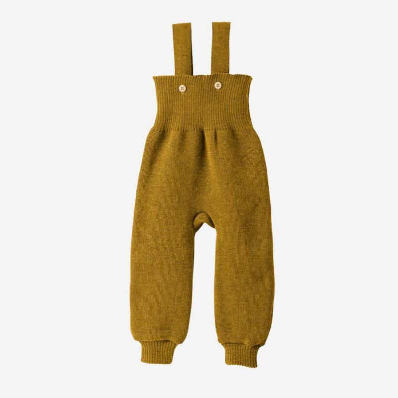 Strick Trägerhose Wolle gold