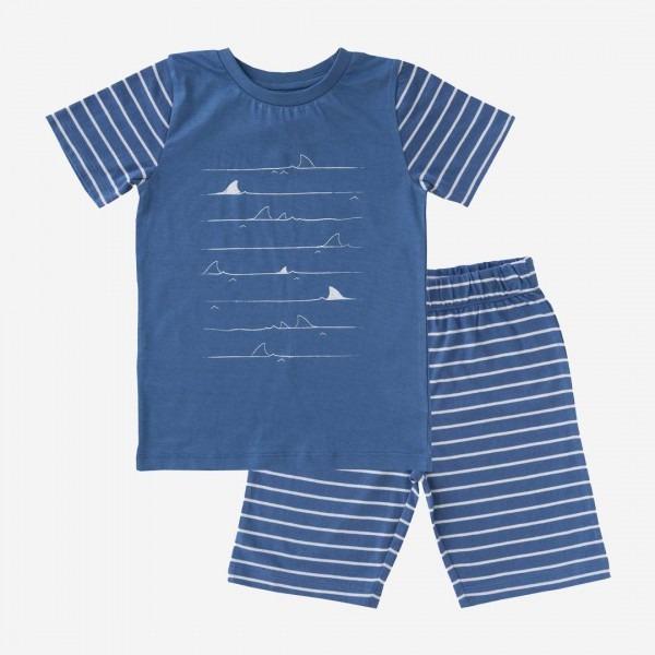 Kurzer Schlafanzug blau