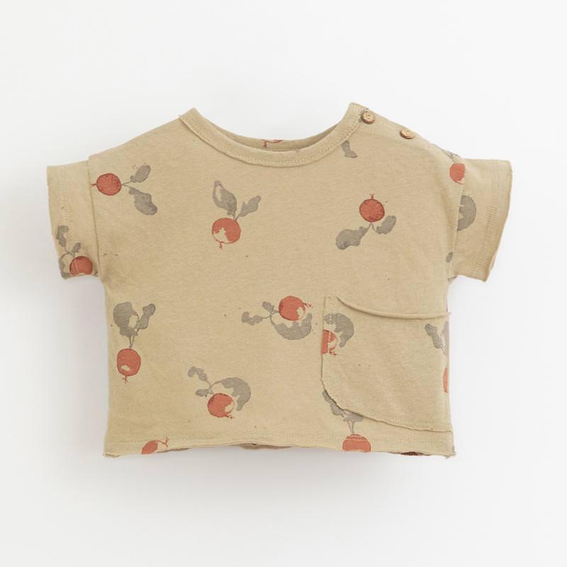 T-Shirt mit Radieschen joão hellbraun