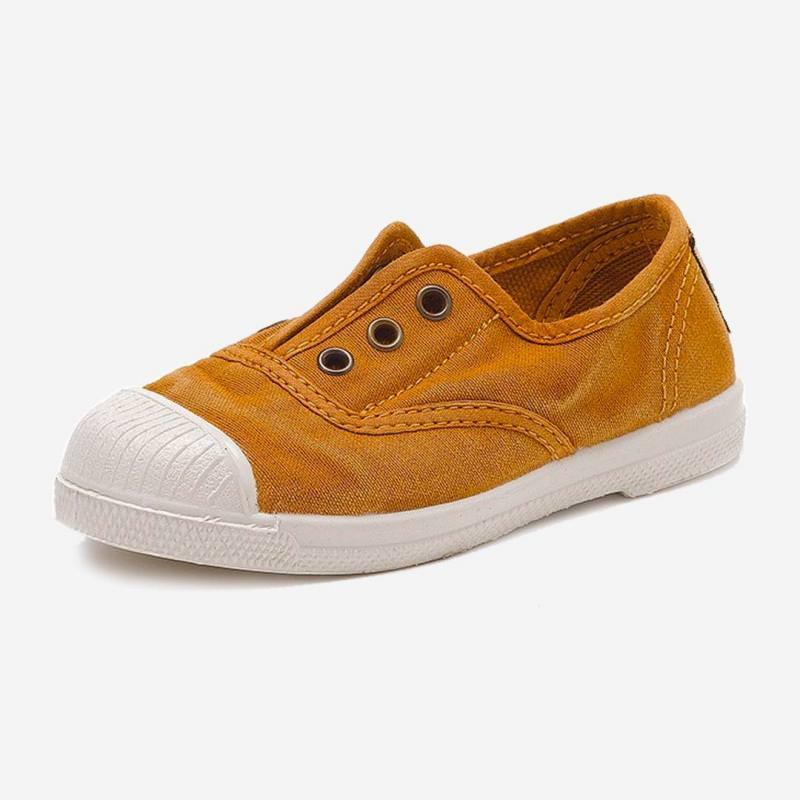 Sneaker Stoffschuh ocker