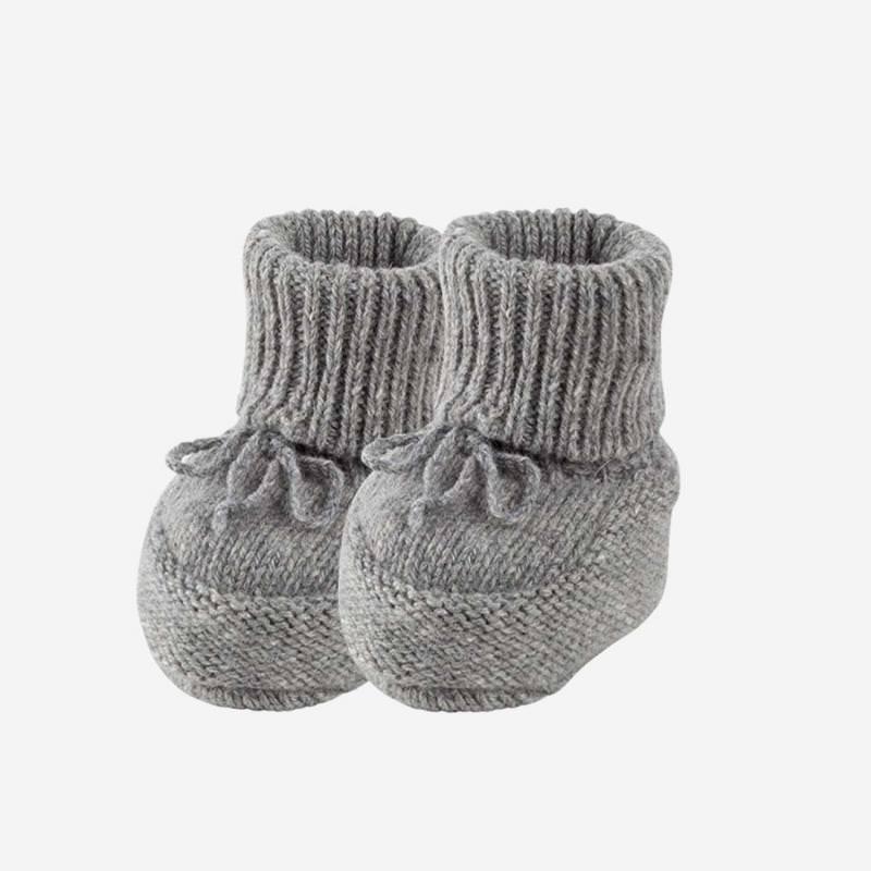 Baby-Schühchen Alpaka-Merino grau