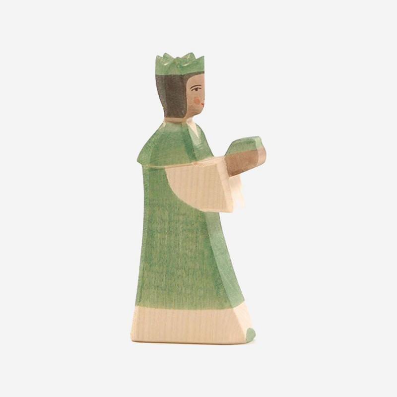 Holzfigur König grün von Ostheimer
