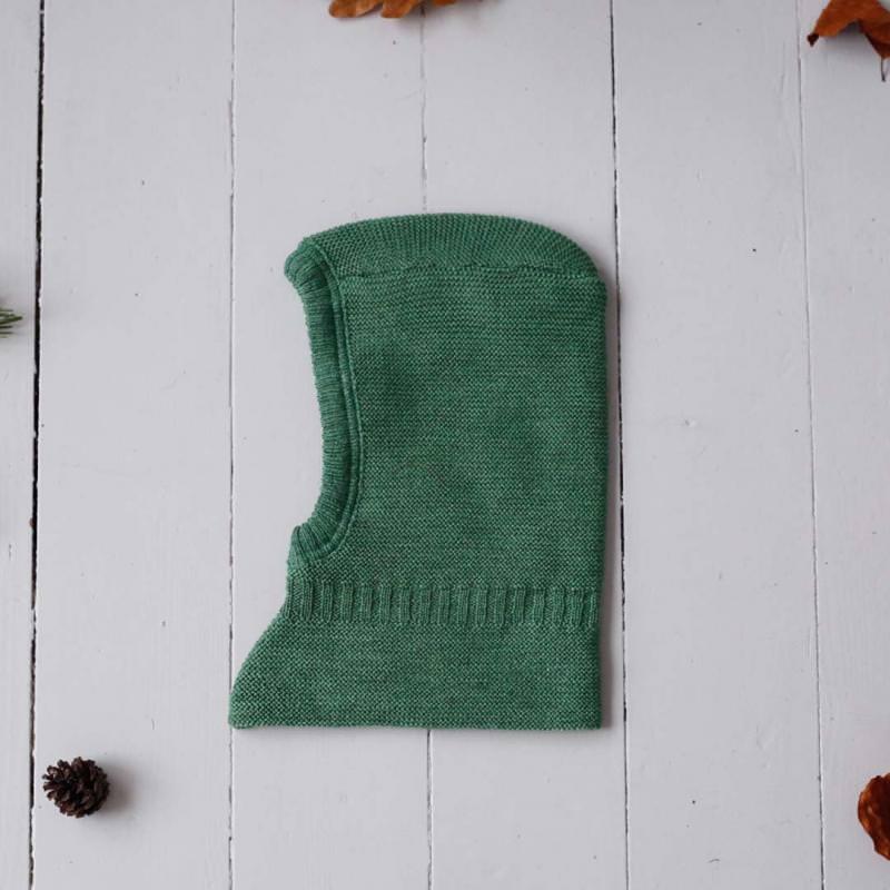Schalmütze Sturmhaube Wolle dusty green