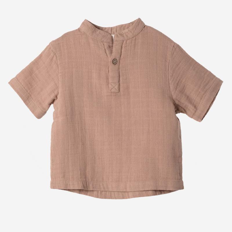 Kurzarm Shirt Farbenspiel sienna
