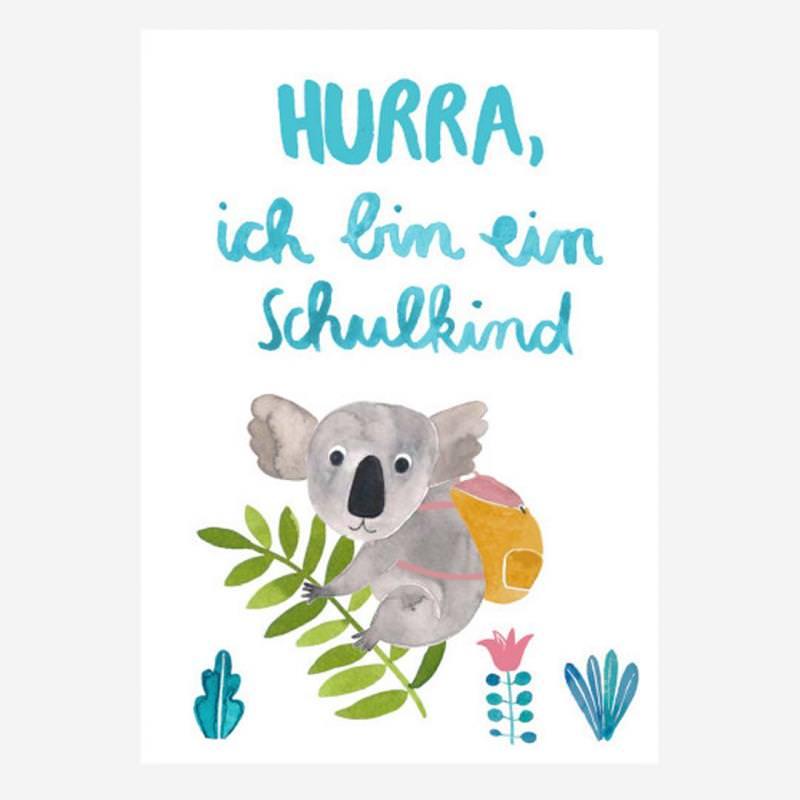 "Postkarte ""Schulkind"" Koala"