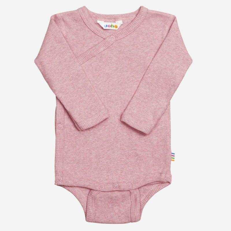 Wickelbody Baumwolle rosa melange