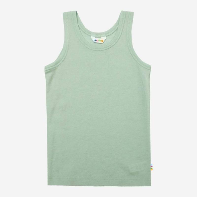 Unterhemd Merinowolle hellgrün Joha