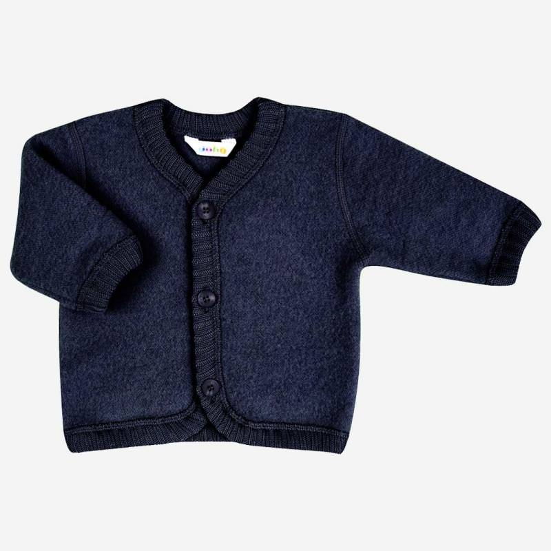 Cardigan Wollfleece navy melange