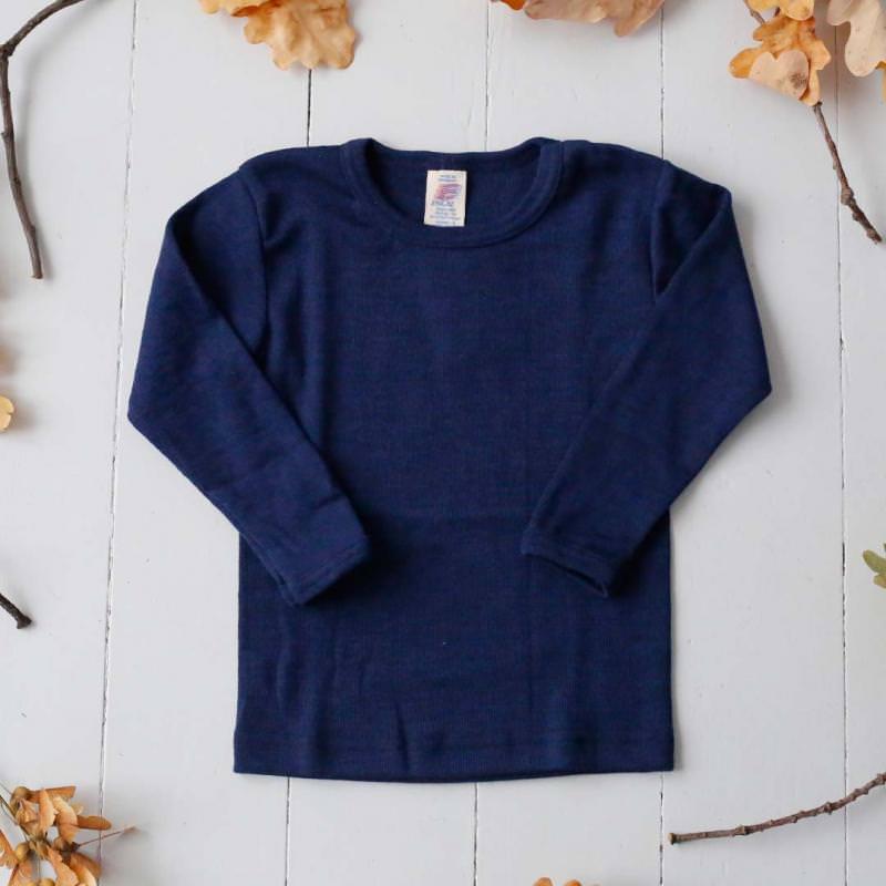Unterhemd marine Wolle/Seide