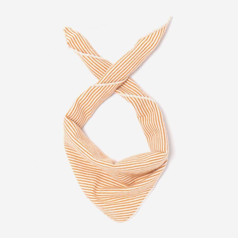 Dreieckstuch von Lilano aus Wolle/Seide in Ringel curry