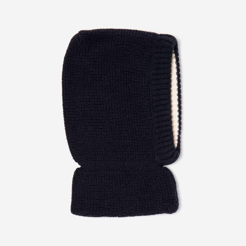 Schalmütze Wolle/Baumwolle marine
