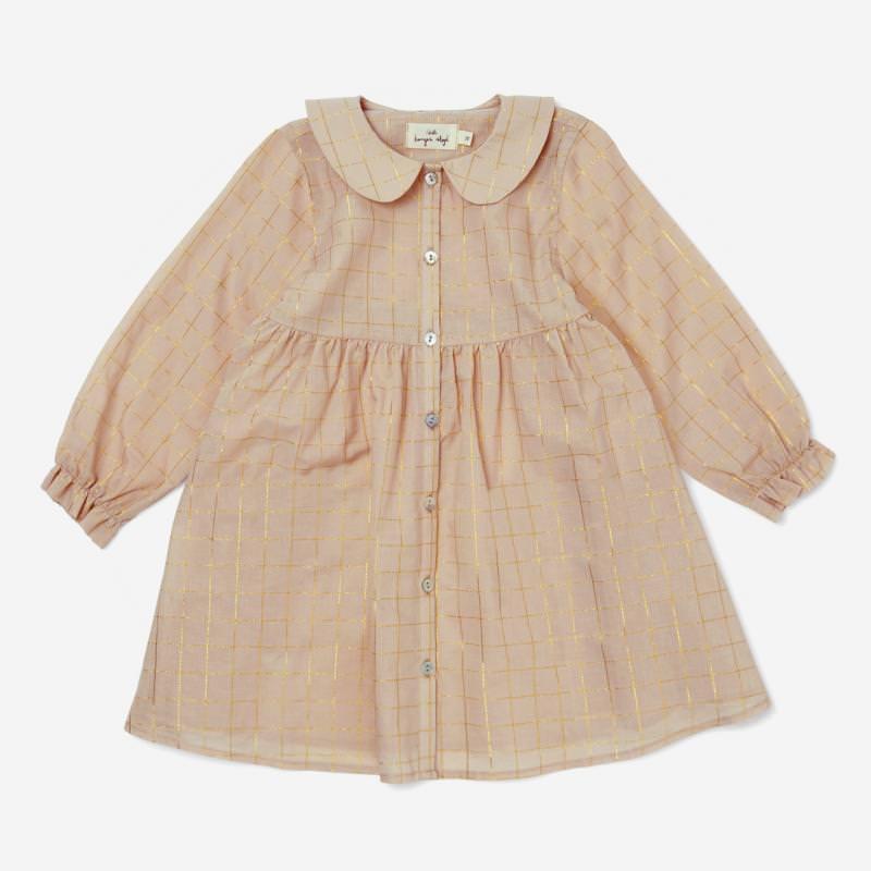 Kinder Kleid ADA von Konges Sløjd aus Bio-Baumwolle in moonlight check